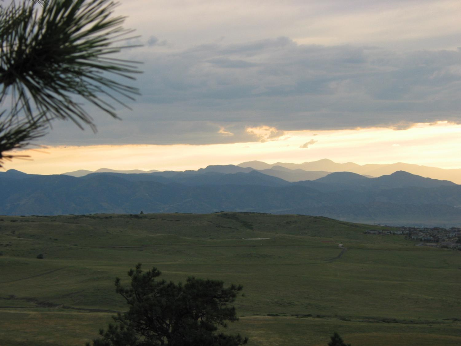 Mount Evans view at sunset