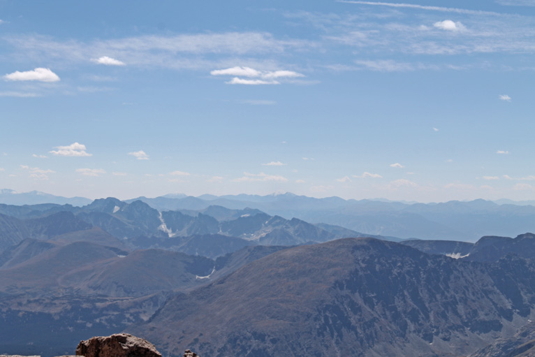 View South from Long's Peak to Gray's and Torrey's