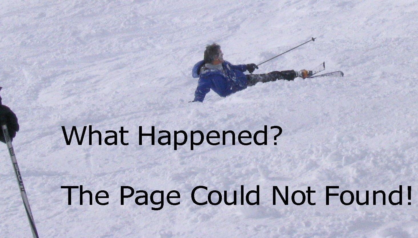 Karl Crashing on Ski Slope