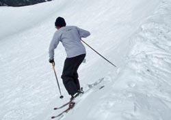 Karl Kelman entering the Jump Ski Run