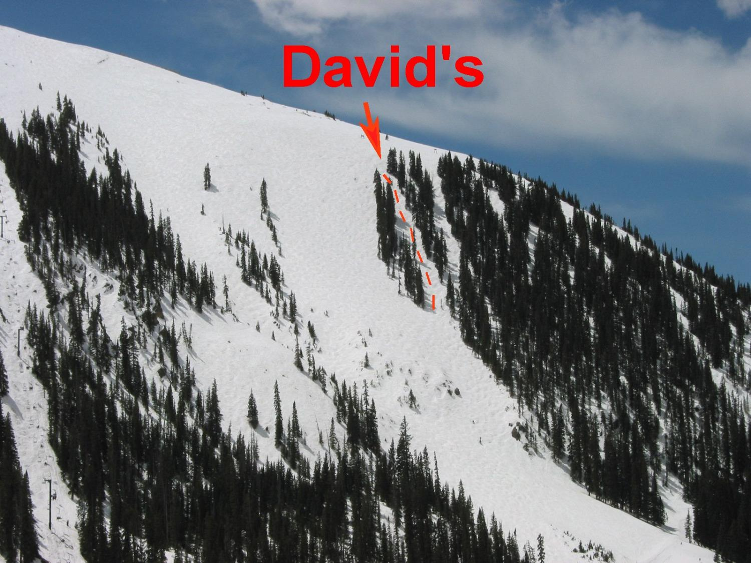 David's is just to the west of Pali Face.