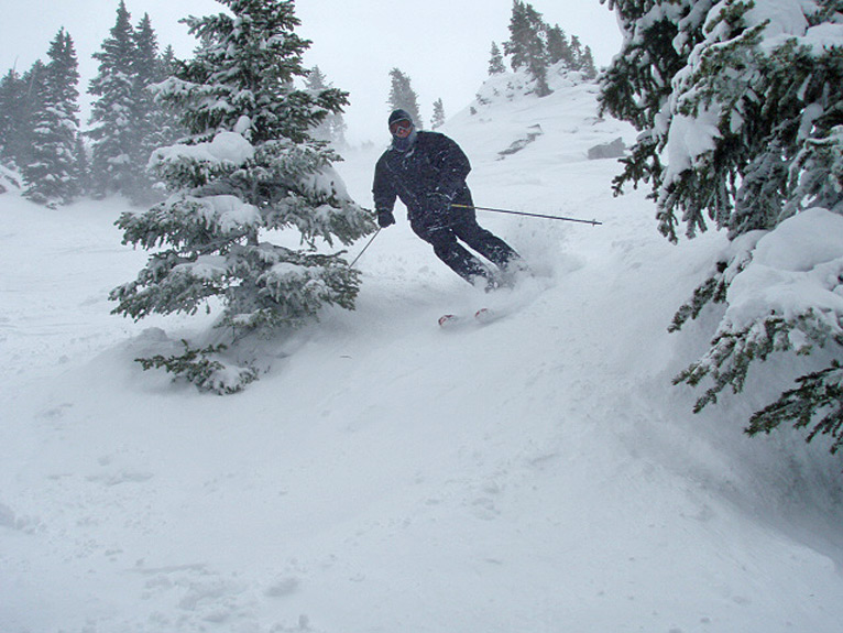 Karl Skiing May 22 Powder on Gauthier.