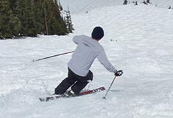 Skiing on Pali Face