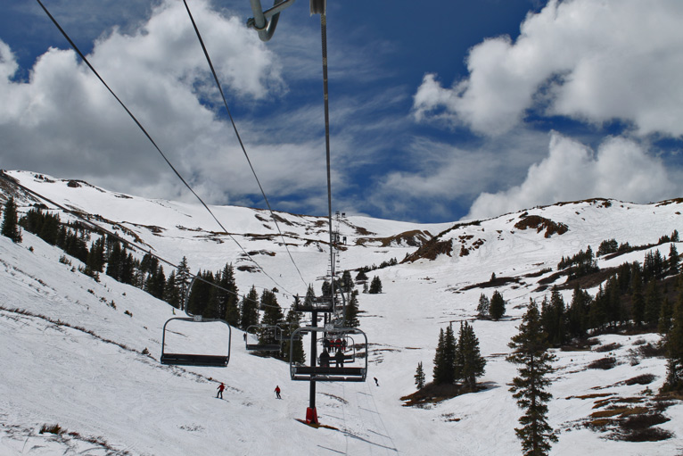 Chairlift 9 at Loveland Basin