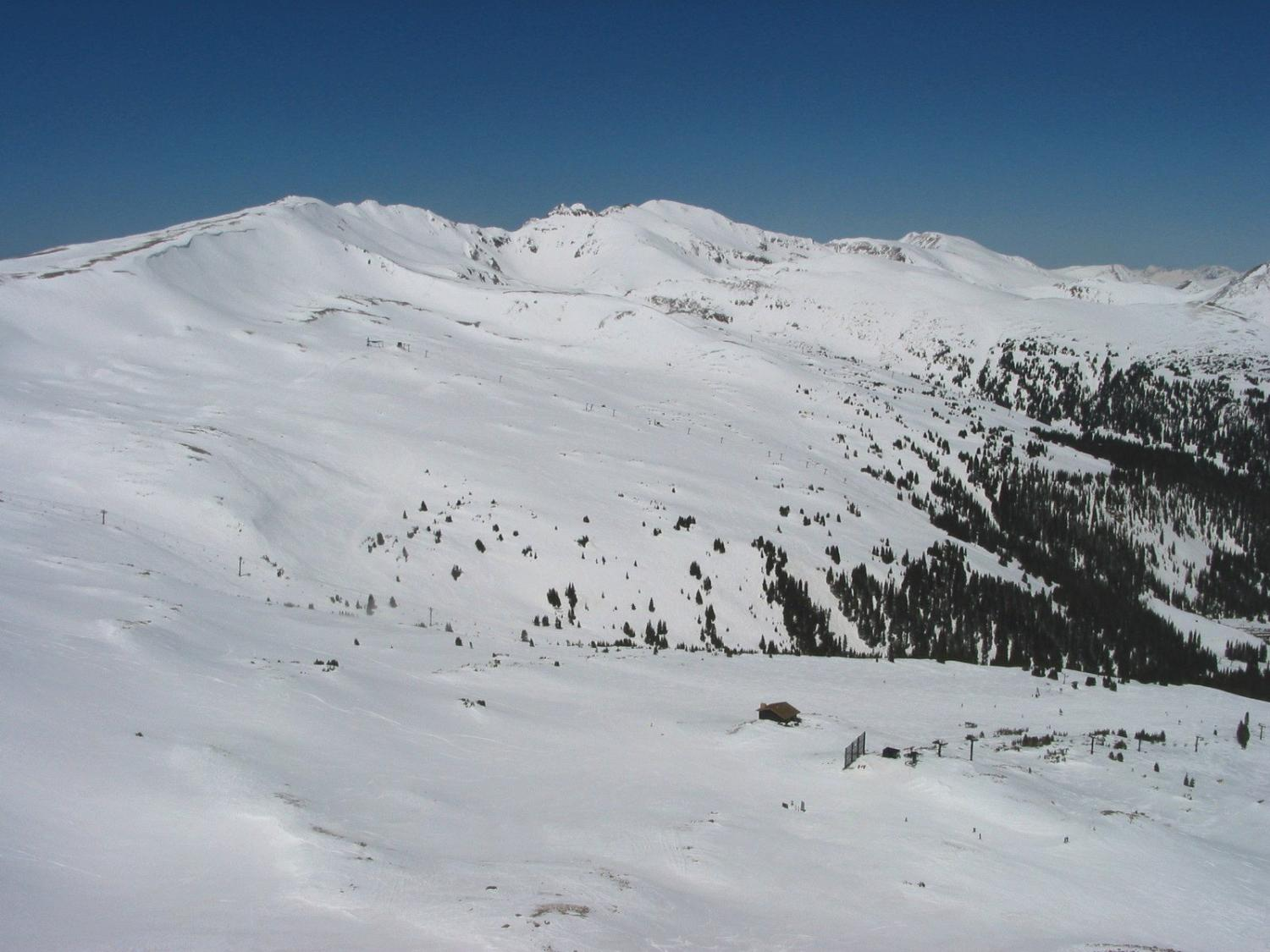 Chairlift 9 and 4 viewed from Wild Child
