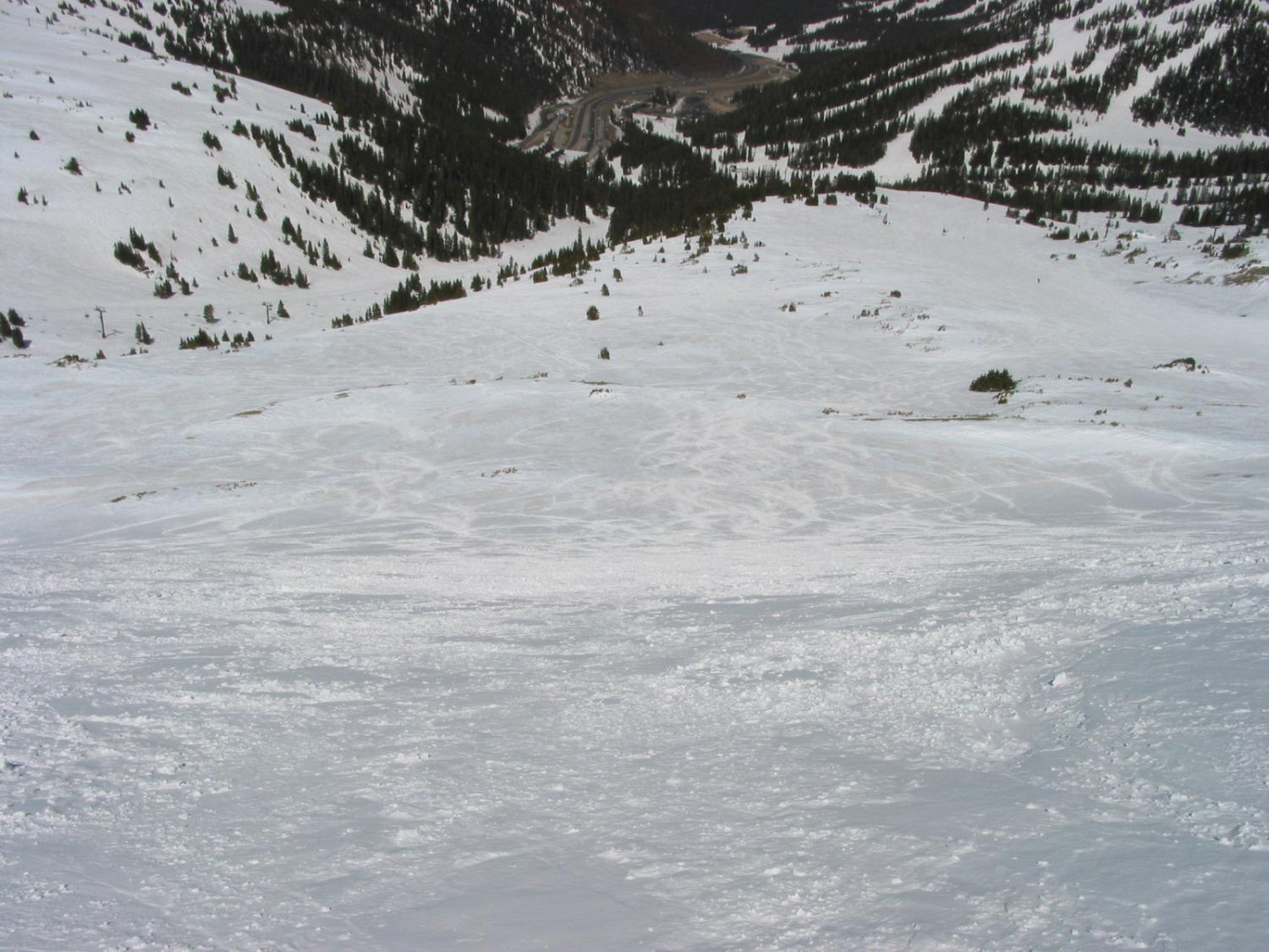 Jelly Roll Ski Trail looking at the bottom of Lift 9