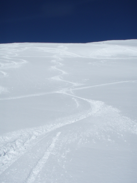 The Hiker's Ski Tracks in Northstar.