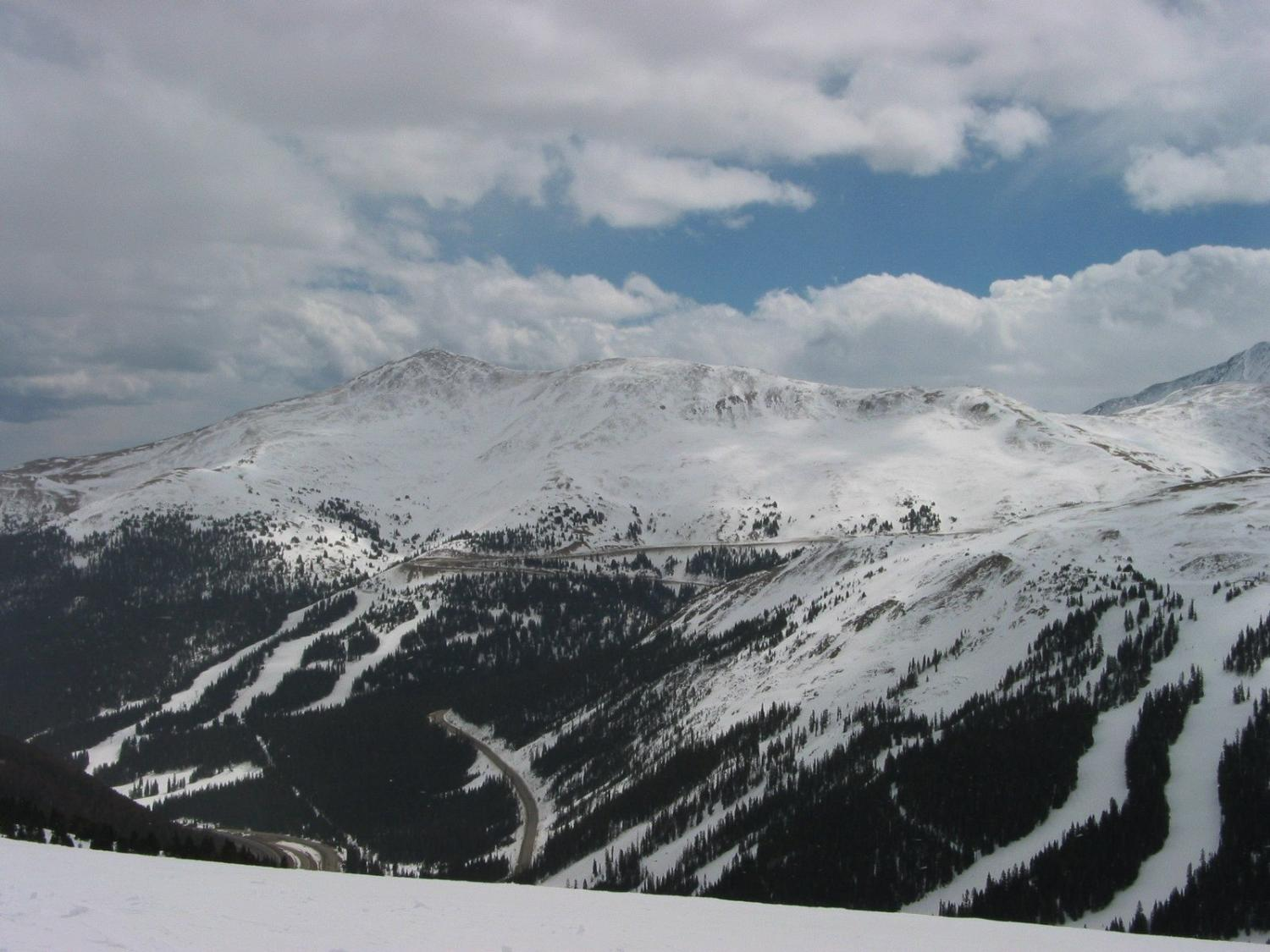 Loveland Pass with Loveland Valley in the Foreground