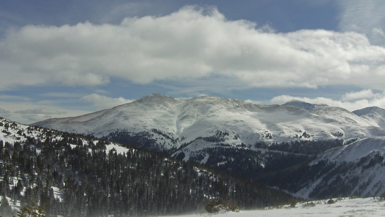 Loveland Pass as viewed from Chair Eight Terrain{