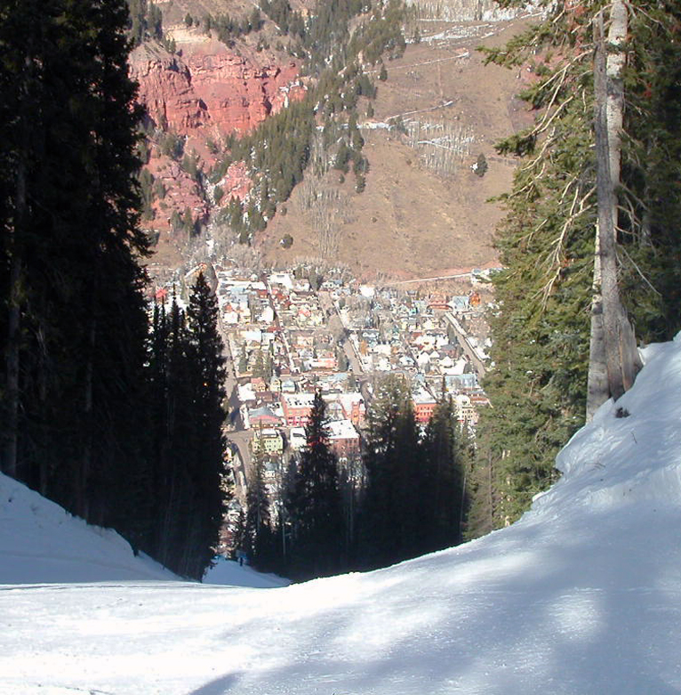 Looking Down to the town of Telluride